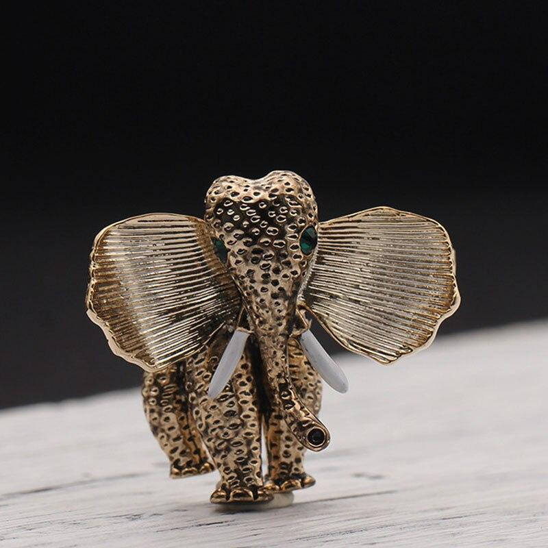 UALGL Fashion Nice Crystals Elephant Brooches Coat Pins Hijab Scarf Clip Joyeria De Moda Broche De Animales Broche De Elefante