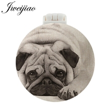 JWEIJIAO Pet Dogs Photo UV Printed Pocket Mirror With Massage Comb NEW Folding Compact Portable Makeup Vanity mirrors