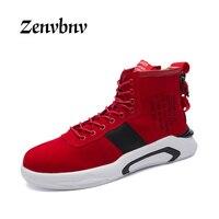 Zenvbnv 2017 أزياء الرجال الأحذية الشتاء تنفس الدانتيل يصل الاحذية الجانب الراحة خفيفة الوزن الرجال الشقق الساخن بيع الأحذية الحمراء
