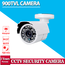 Hot selling,White HD 900TVL CCTV Surveillance security camera 24leds 3.6mm IR CUT outdoor for CCTV DVR security camera system