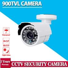 Горячий продавать, Белый HD 900TVL CCTV камеры видеонаблюдения 24 светодиодов 3.6 мм ИК открытый ВИДЕОНАБЛЮДЕНИЯ DVR камеры системы безопасности