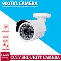 Venta caliente, Blanco HD 900TVL CCTV de Vigilancia de cámaras de seguridad 24 led 3.6mm IR CUT exterior para CCTV DVR sistema de cámaras de seguridad