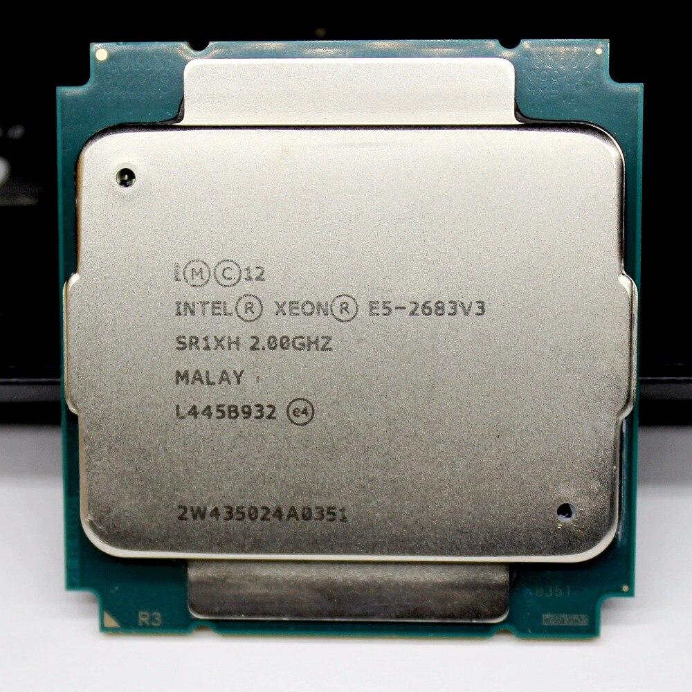 E5 2683 V3 2683V3 מעבד Xeon מעבד 2.00 GHz ליבות E5-2683v3 DDR4-2133 FCLGA2011-3 TPD 120 W Xeon e5 v3 1 אחריות לשנה