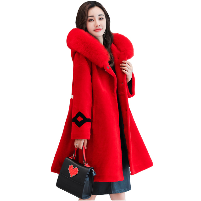 Aliexpress.com : Buy Uanloe Red Woollen Overcoat Woman Parka ...