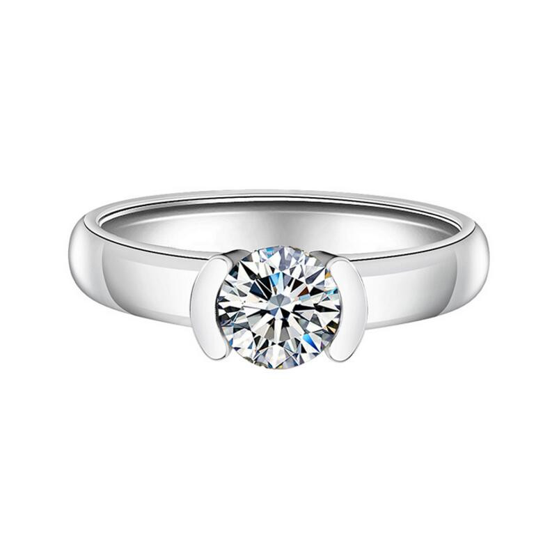 1 carat 925 sterling silver jewelry diamond ring proposal ring customized diamond ring (XJ)