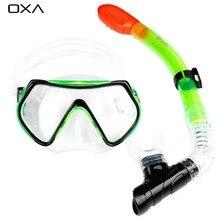 OXA Neue Professionelle Antifog Tauchen Maske Schnorchel Brille Set Unterwasser Silikon Schwimmen Angeln Pool Ausrüstung