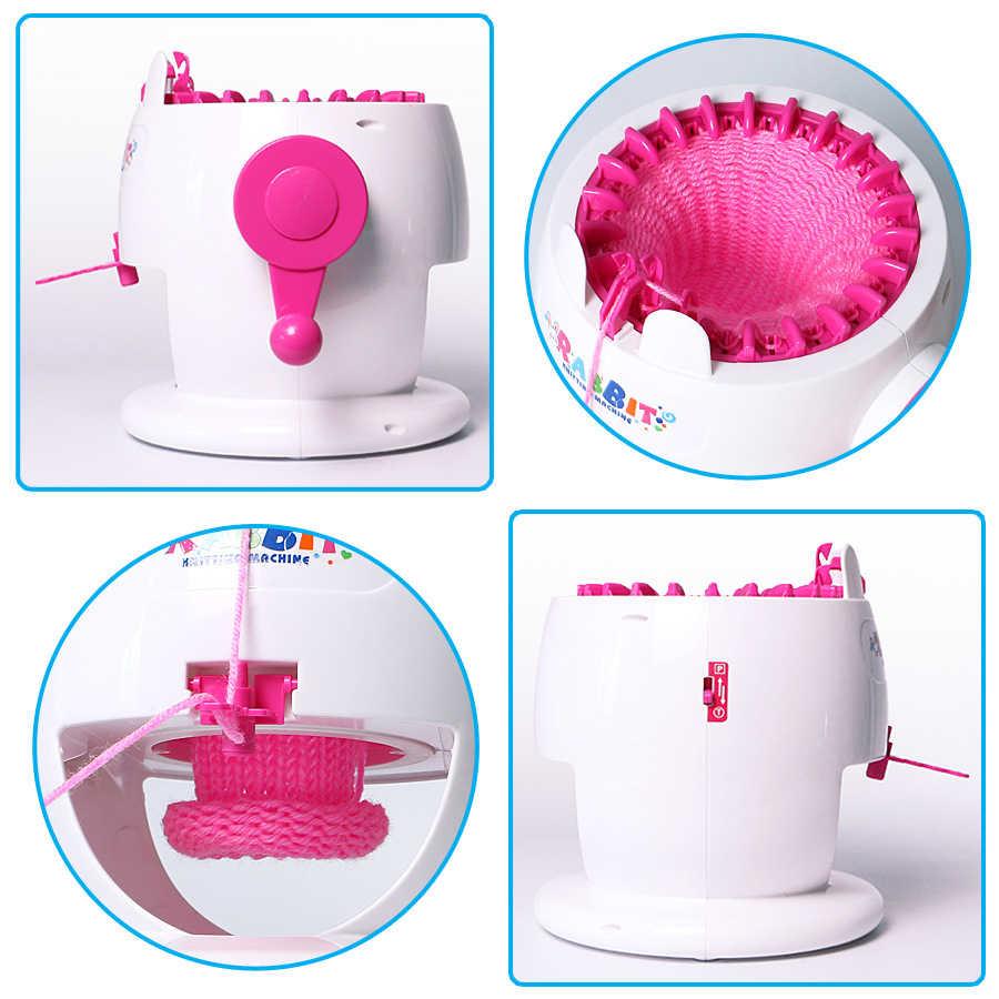 Мини ручной Вязание плетение машины жгутовых полосок детская ремесло игрушка для девочек DIY Творческий шарф ручной вязки шапка Искусства и ремесла игрушки для детей