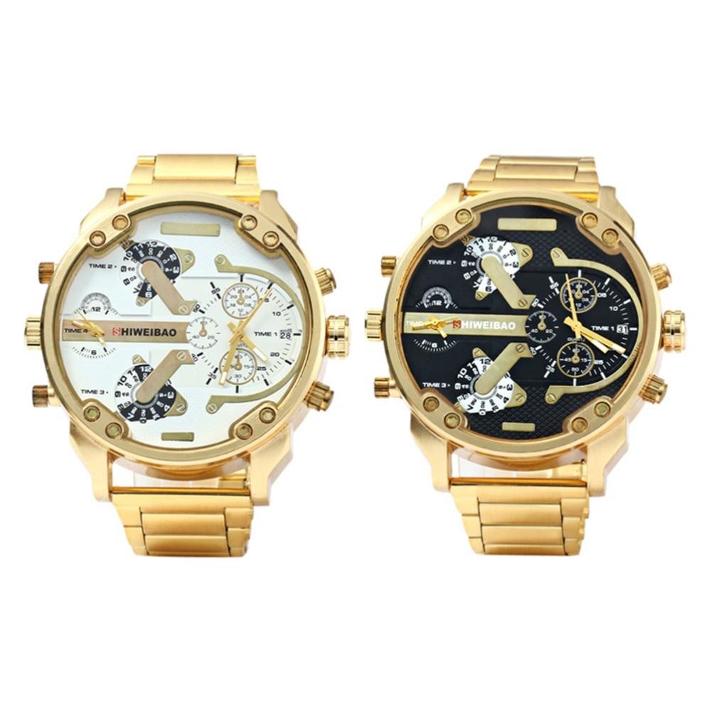 39a7d28b735 2018 אופנה שעון זהב גברים שעונים למעלה מותג יוקרה מפורסמים שעוני יד קוורץ  זכר שעון זהב שעון יד Relogio Masculino ב-2018 אופנה שעון זהב גברים שעונים  למעלה ...