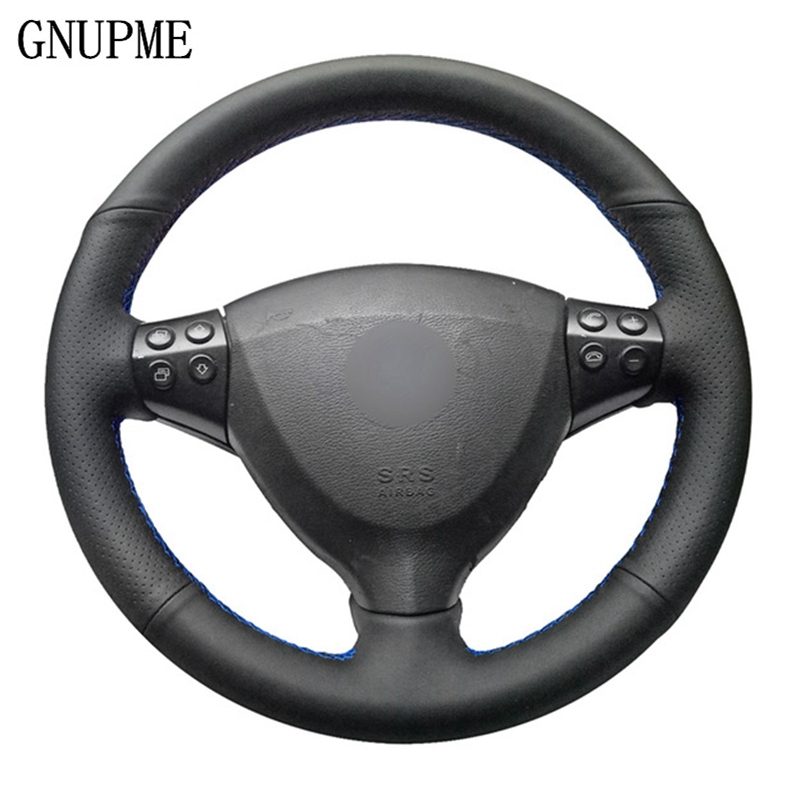 GNUPME Quality Black Artificial Leather Car Steering Wheel Cover for Mercedes Benz A Class A160 A180 E CELL 2009 2012|Steering Covers| |  - title=