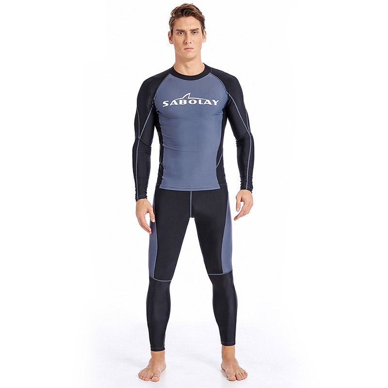 788fbe50ffc Men's Diving Suit 2 Pieces Set Quick Dry UPF50+ UV Protection Snorkeling  Surfing Swimming Suit Long