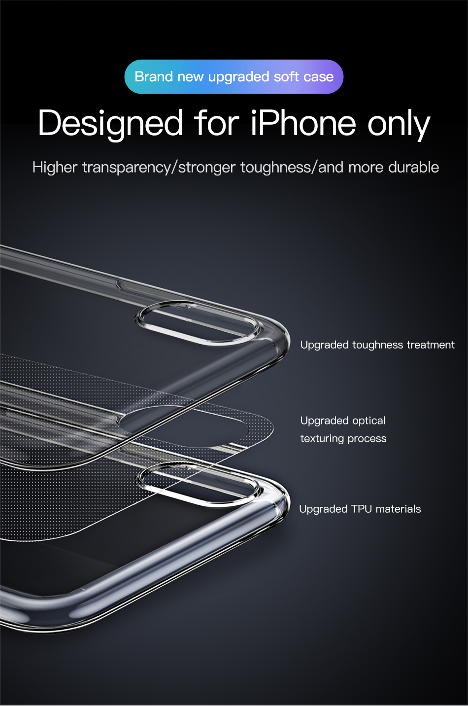 Baseus Ultra Thin Transparent Case For iPhone 11 Pro Max Case Luxury Soft Silicone Back Cover For iPhone 11 Pro X Xs Max XR Case