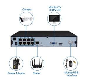 Image 4 - Keeper vidéosurveillance en réseau, 4CH ou 8CH, avec porte POE 1080P 2mp, 48V, pour caméra IP H.264, P2P ONVIF