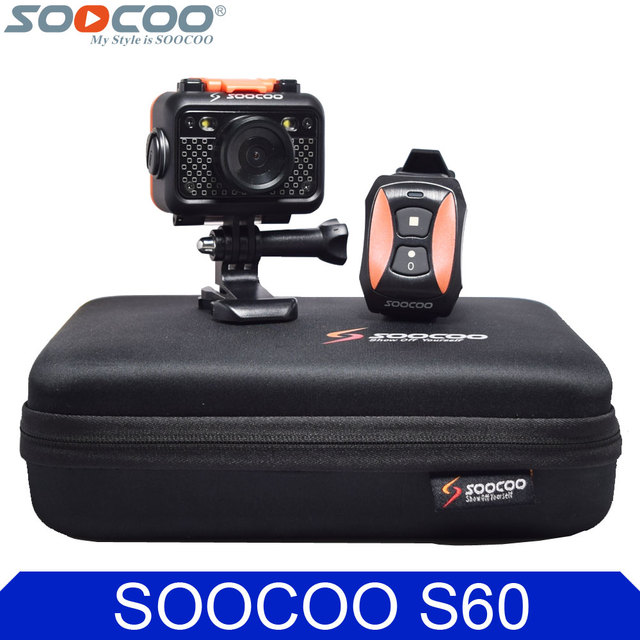 Original SOOCOO S60 Wifi Action Video Camera 1080P FHD Diving 60M Bare Waterproof Mini DV Sports Camcorder+Remote Control Watch