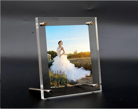 Free Shipping Acrylic Photo Frame Display Table Introduction Function Table  Top Stand Menu List Drinks Holder