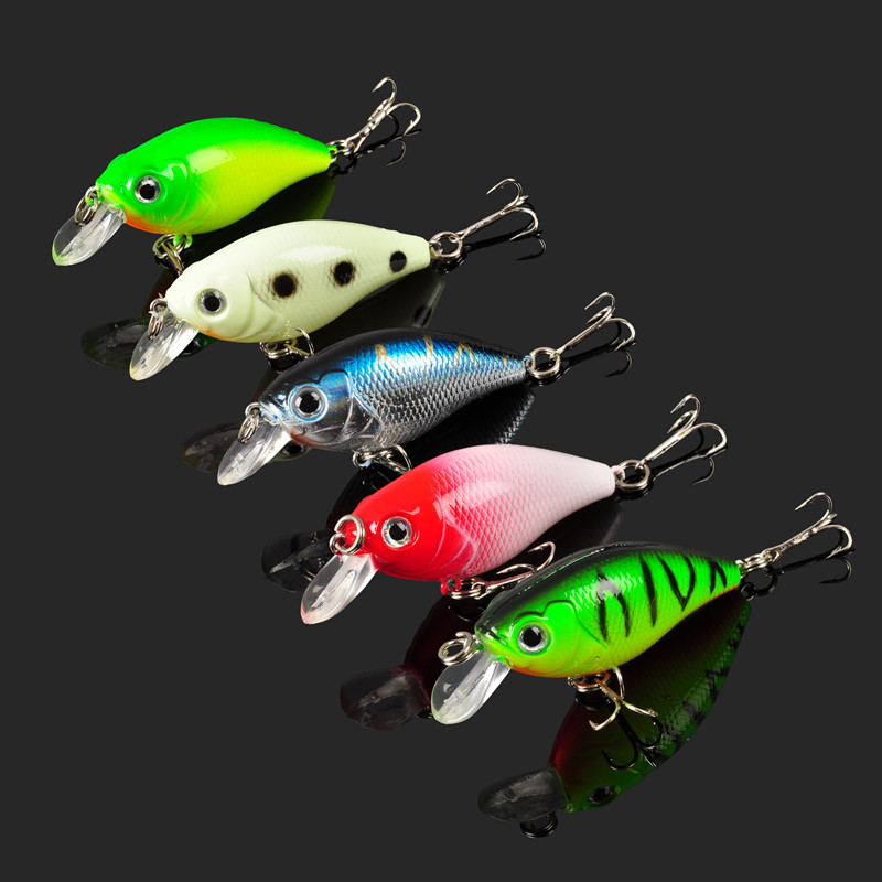 New ALLBLUE Fishing Lure Plastic Crankbait 7g/55MM Wobbler 5pcs/lot for Fishing Bait Crank Isca Artificial for Pike big floating crankbait fishing lure 17 8g 70mm wobbler 6 quality hooks peche isca artificial crank lure fishing tackle wq103