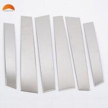For Honda CRV CR-V 2007 2008 2009 2010 2011 Stainless Steel Window B+C Column Center post Pillar Cover Trim Car Styling6pcs