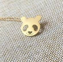 1pcs tiny Chains Choker Necklaces fashion Jewelry lover gifts Head Panda Necklace for women bear Pendants Charms(China)