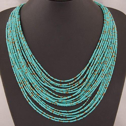 d575c92be12b Collier Femme para 2016 moda Boho collar mujeres joyería Cuentas multicapa declaración  gargantilla Collares y colgantes bijoux collar