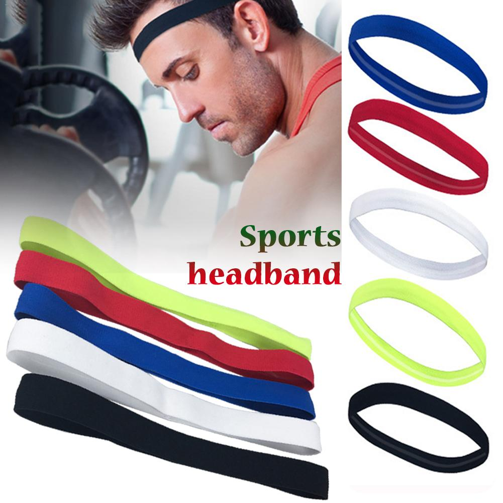 1PCS Unisex Elastic Head Sweatband Non-slip For Men Women Yoga Hair Bands Running Sweat Bands Fitness Headband