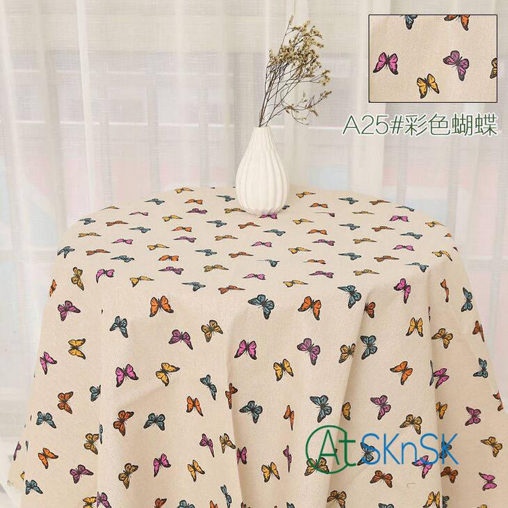 1 м/лот дешевая хлопчатобумажная ткань для покрытия стола Сделай Сам шитье Лоскутная Ткань украшение дома напечатанные хлопчатобумажные Ль