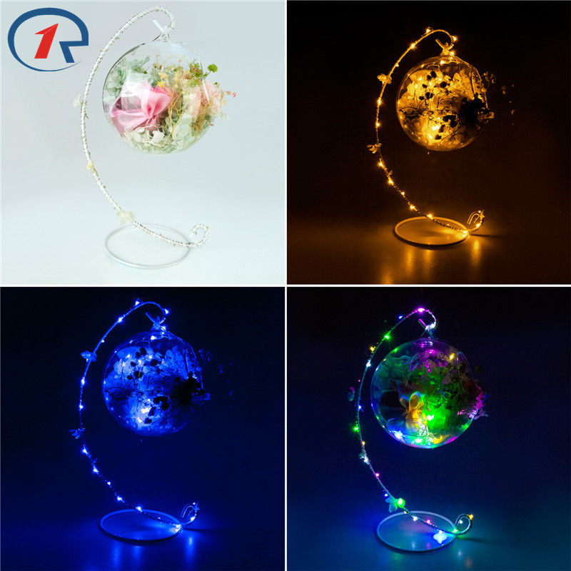 ZjRight New Led fairy String Lights C frame dried <font><b>flower</b></font> petal sachet Battery glass ball Xmas decor Help sleep table night lamps