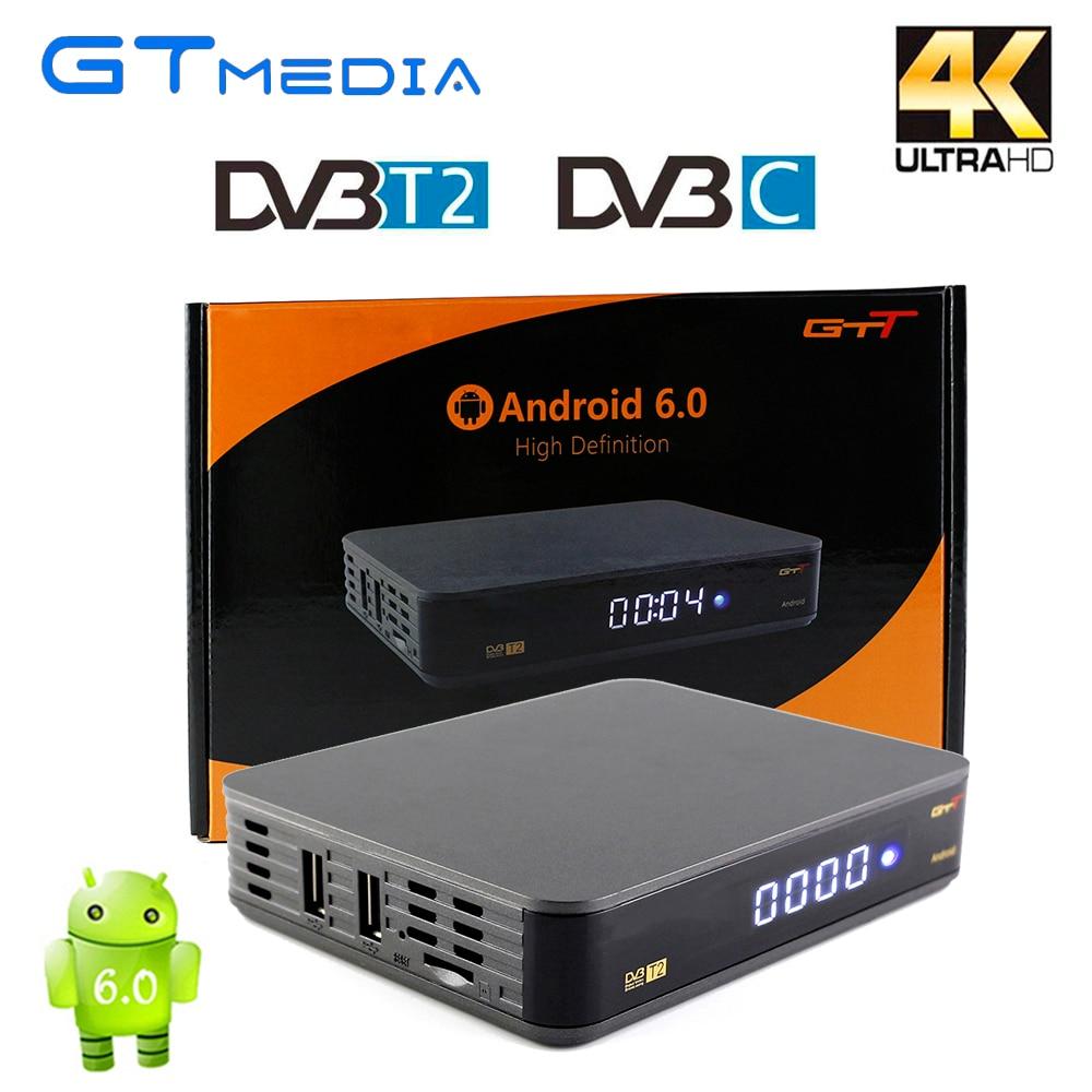 Android TV Box GTT DVB-T2 DVB-C Smart TV Box Amlogic S905D 1GB/8GB ROM DVB T2 H.265 2.4G WIFI HD 1080p MPEG-4 4K TV Media Player [genuine] freesat v8 golden dvb s2 t2 c satellite tv combo receiver support powervu biss key cccamd newcamd n usb wifi optional