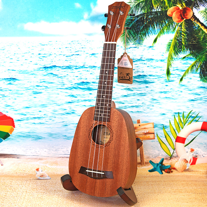 Soprano Ukulele 21 Inch Electric Guitar 4 Strings Ukelele Pineapple Guitarra Uke Mahogany Handcraft Wood Musical Instruments стоимость