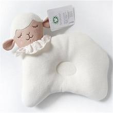 Горячая Распродажа новорожденный 100 Хлопок Детские подушки младенческой пены памяти поддержки Предотвращение плоской головкой сна
