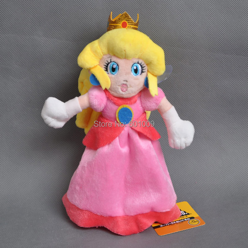 Free Shipping 3PCS New Super Mario Plush Doll Princess PEACH DAISY