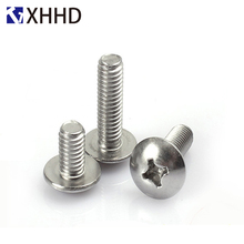 Phillips Cross Recessed Large Truss Head Machine Screw Metric Thread Mushroom Bolt 304 Stainless Steel M5 M6 M8