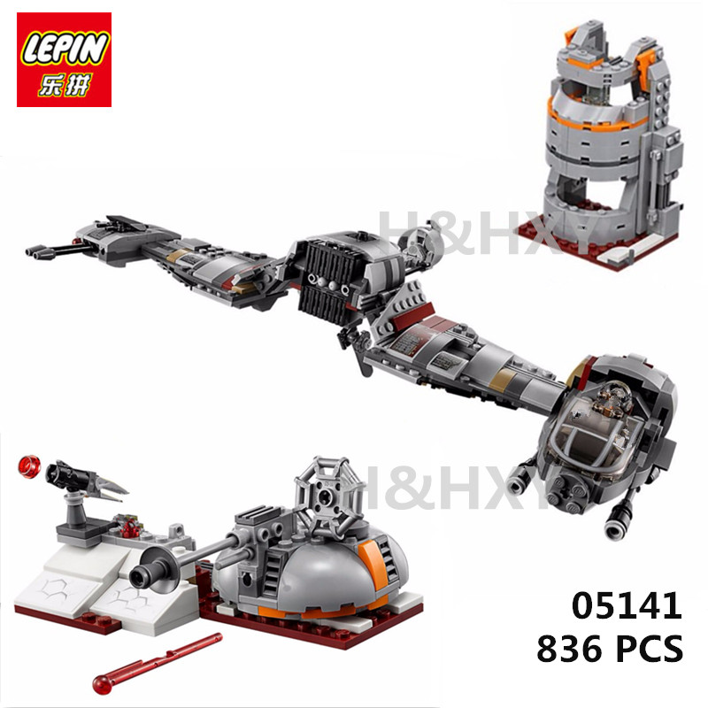 IN STOCK LEPIN 05141 New 836Pcs Star Plan Series The Defense Of Crait Set 75202 Building Blocks Bricks Educational Toys Gifts in stock lepin 23015 485pcs science and technology education toys educational building blocks set classic pegasus toys gifts