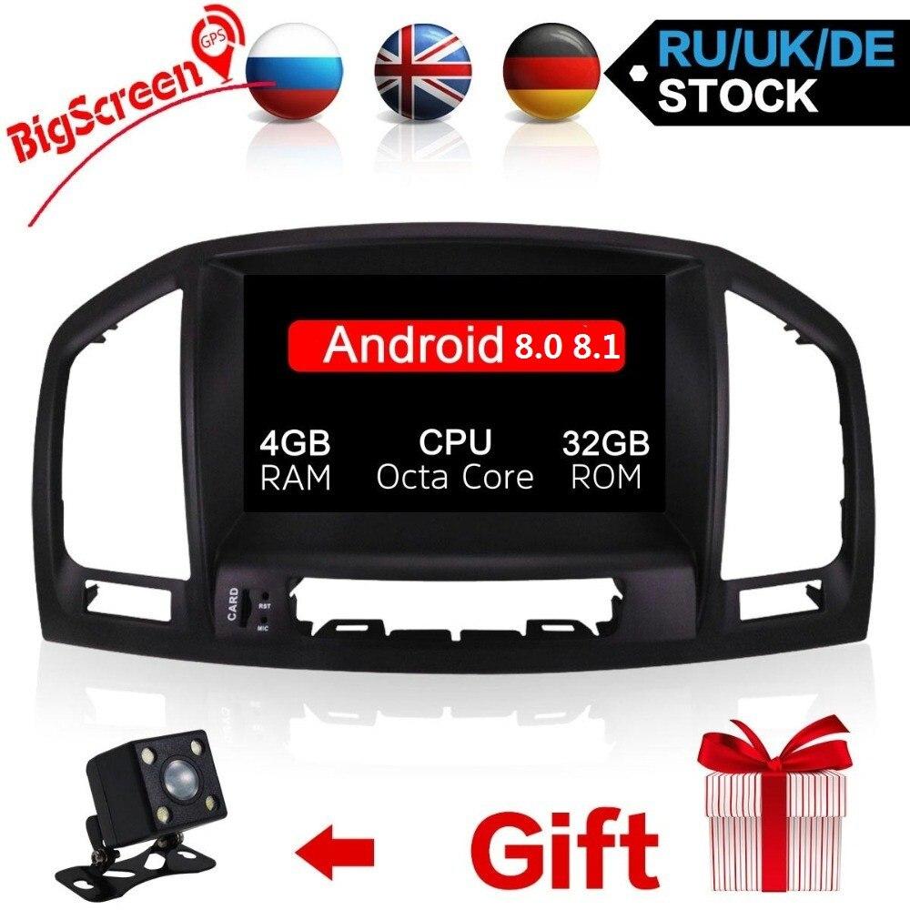 Date Android 8.0 8.1 Système Octa Core Autoradio Lecteur GPS Navi Pour Opel Insignia 2008-2013 Headunit Autoradio moniteur satnav