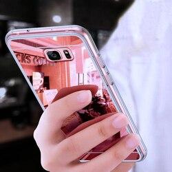 Оригинальный роскошное зеркало ТПУ чехол для Samsung Galaxy A3 A5 A7 J3 J5 J7 J1 2016 2017 S9 S8 плюс S6 S7 край Grand Prime чехол тонкий