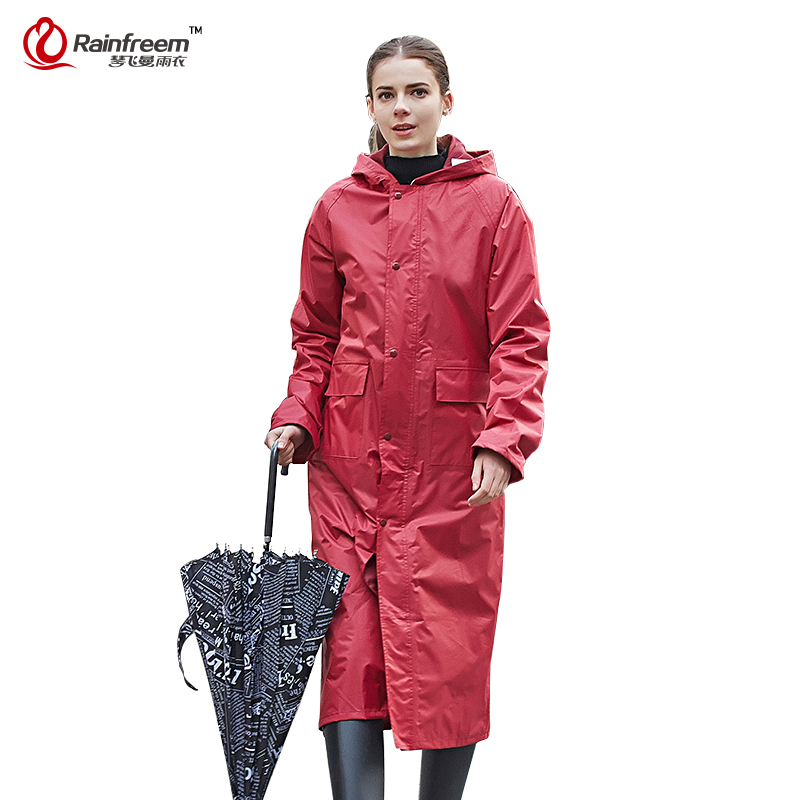 Rainfreem Impermeable Raincoat Women Men Waterproof Trench Coat Poncho Single layer Rain Coat Women Rainwear Rain
