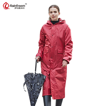 Rainfreem непроницаемой плащ Для женщин/Для мужчин Водонепроницаемый Тренч пончо однослойный дождевик Для женщин плащи Защита от дождя пончо