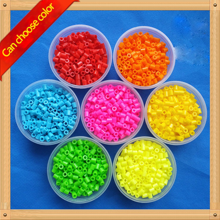 330pcs/box 5MM HIGHGRADE hama toy beads diy toy variety of colors foodgrade PUPUKOU fuse beads Kids Education Diy PUPUKOU(China)