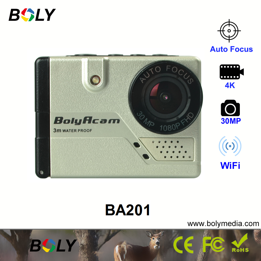 Auto focus WIFI action camera 4k/20fps 3 meter water proof with accessories included in the package last 14 pcs on sale