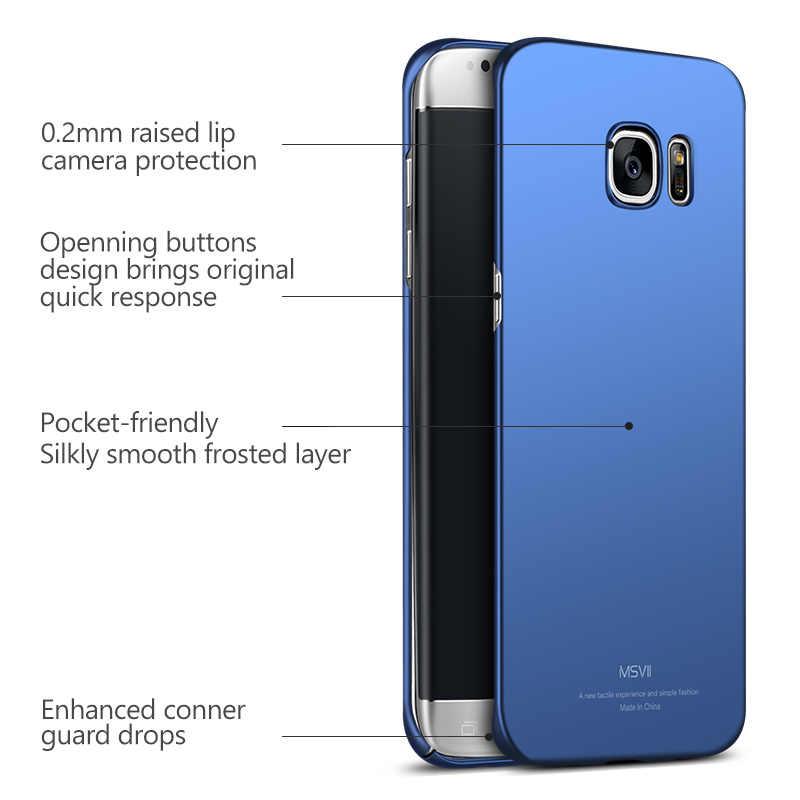 Msvii для Samsung Galaxy S7 Edge чехол для Samsung Galaxy S7 чехол роскошный тонкий 360 полная защита PC матовый жесткий чехол для телефона