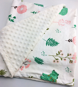 Image 2 - Minky Baby Blanket Flannel Fleece Animal Blanket Infant Swaddle Nap Receiving Stroller Wrap For Newborn Baby Bedding Blankets