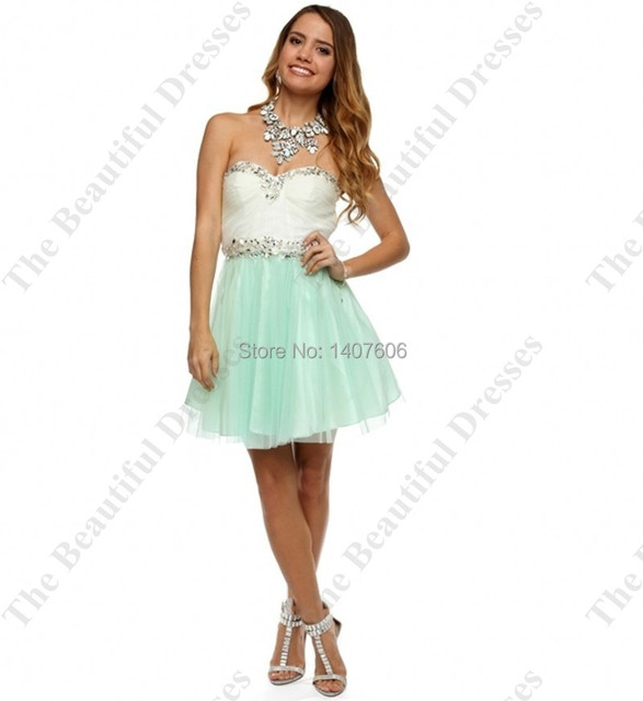 Green Short Prom Dresses Hot