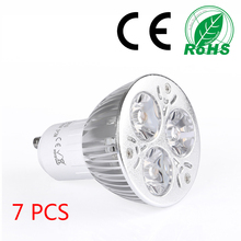 7pcs warm white led spot light GU10 3w non dimmable lampada remote control spot-light be suitable for all scenes.