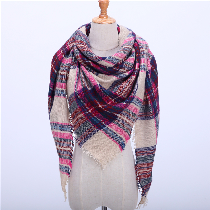 Ruicestai women plaid cashmere scarves shawls wraps warm