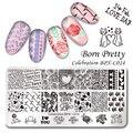BORN PRETTY Celebration Nail Stamping Plate Valentine's Day Manicure Nail Art Image Template BPX-L014