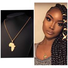 Ожерелье из нержавеющей стали с картой Африки, Геометрическая подвеска, женское ожерелье на заказ в форме любого состояния, массивное ювелирное изделие, подарок