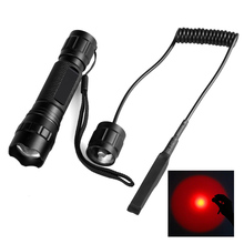 501R XP-E2 283 lumens 620nm 18650 1 mode Super bright  waterproof red outdoor zoom spotlight hunting LED Zoomable flashlight New