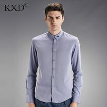 KXD 2017 супер длинными рукавами плюс размер мужчины рубашка мужской деловой воротник весна осень с длинным рукавом menM-XXXL
