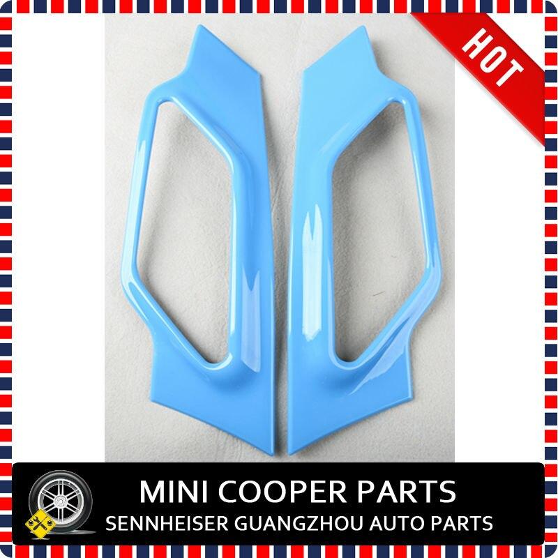 Фирменная Новинка ABS Материал с защитой от ультрафиолетового излучения, чистый голубой цвет Стиль стороне крышки лампы для R60 mini cooper Countryman S только(2 шт./компл