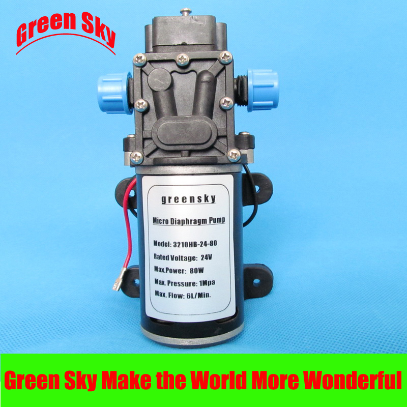 DC 24V 80W 360L H return valve type self priming booster micro diaphragm water pump in Pumps from Home Improvement
