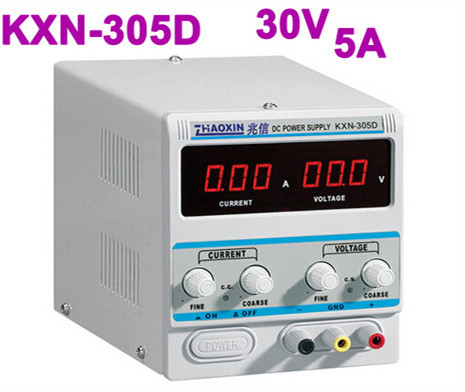 All New Digital KXN-305D High-power Switching DC Power Supply, 0-30V Voltage Output,0-5A Current Output rxn 305d ii 0 30v 0 5a two circuit output cocurrent voltage stabilized source fixed output 5v 3a adjustable dc power supply