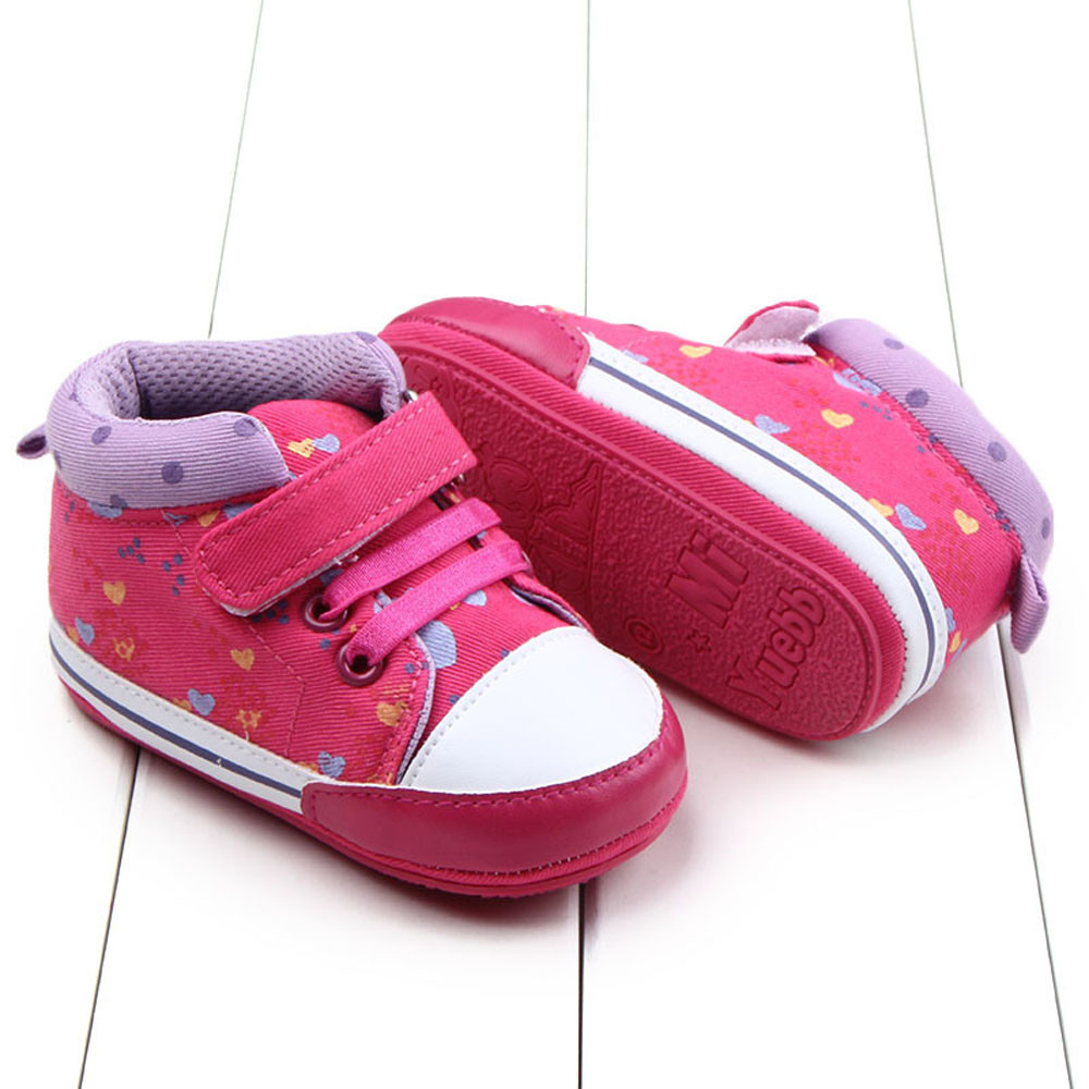 Free Shipping 1 Pair Cute Baby Girls Kids Soft Sole Crib Shoes Infant Toddler Sneaker PU Leather Baby Girls For 0-18 Months